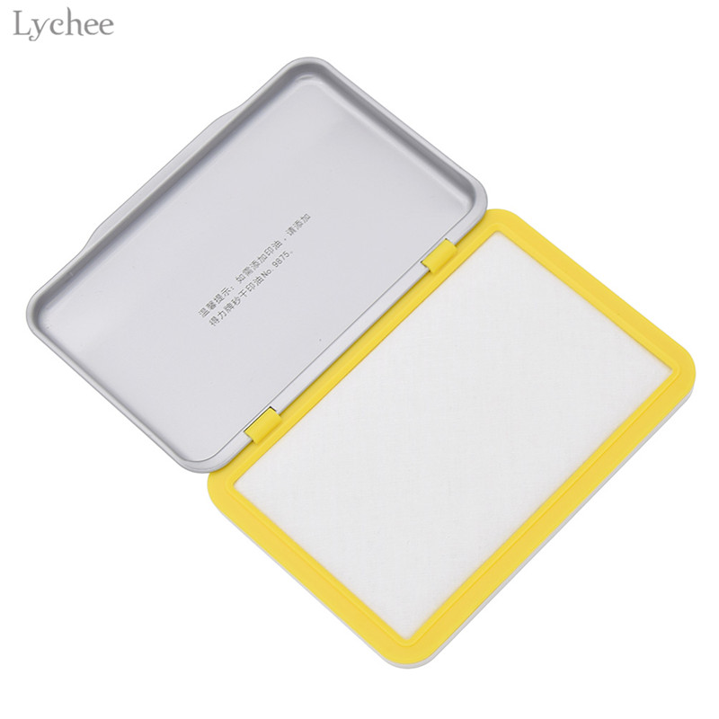 Lychee 1pc Blank Ink Pad Creative Stamping Accessory Tools DIY Scrapbooking Crafts For Kids Children