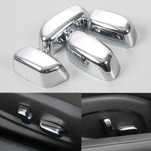 ABS Chrome Silver автомобиля Стульчики Детские Настроить кнопки планки Чехлы для мангала Кепки garlish ободок украшение для Chevrolet Camaro 2017