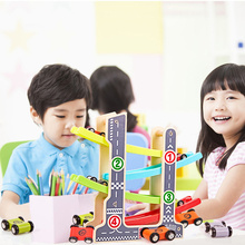 Childrens Educational Wooden Track Car 1-3 Years Old Baby Boy Fun Gliding Toy Set Toys