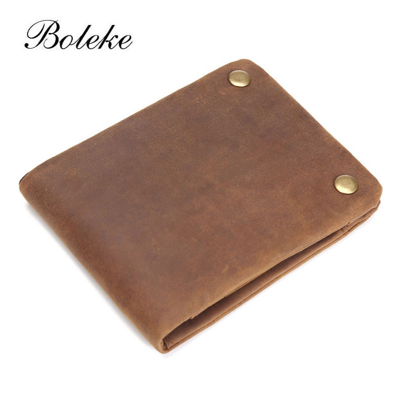 Top Grade Genuine Soft Leather Wallet Double Snap Vintage Short Coin Purse Brand Card Holder Organizer Carteria Masculina 1003 high quality men genuine leather organizer wallet vintage cowhide clasp card holder coin purse vintage carteira masculina 1011