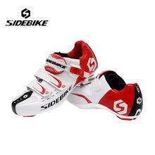 Sidebike мужчины спортивное велоспорт велосипед обувь дорожный велосипед спортивная обувь кроссовки sapato autolock ciclismo eur размер 40-46