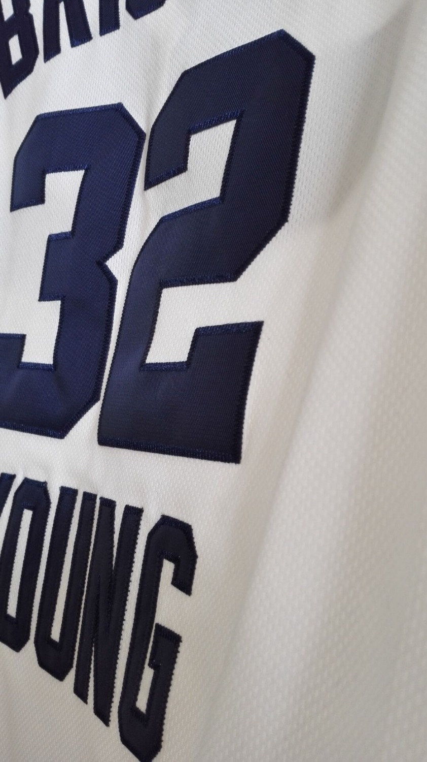 873f184e3b3 ... LANSHITINA Cheap Throwback Basketball Jersey Jimmer Fredette 32 Brigham  Young BYU College Jersey White Black Retro 2017 ...