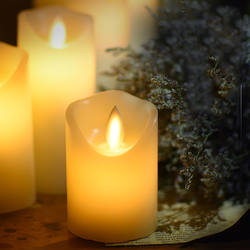LIGINWAAT Wax батарея работает СВЕТОДИОДНЫЙ Свеча парафин восковая свеча с искусственным пламенем для вечерние Рождественские декоративные