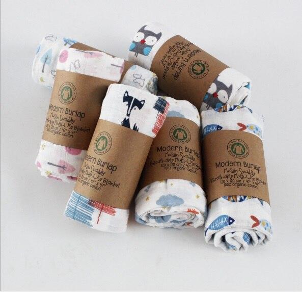 100% Bamboo Fibre Baby Swaddle Miękkie noworodka Koce Niemowlę Wrap - Pościel - Zdjęcie 4