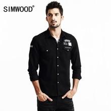 SIMWOOD marke kleidung 2016 neue herbst winter langarmshirts männer mode kausalen hip hop straße shirts CS1555
