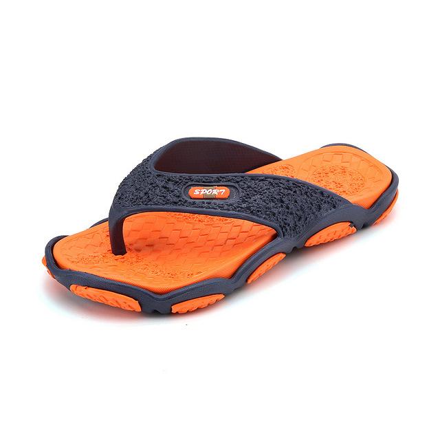 XEK 2018 Men's Slippers Summer Non-slip Massage Slippers Fashion Man Casual High quality Soft Beach Shoes Flat Flip Flops ST271