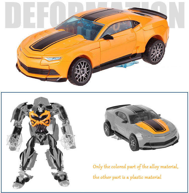 Cool Robot Car Transformation Toys Kids Bumblebee Toy Anime Transformation Robot Action Figure Mobel Christmas Gift For Children (5)