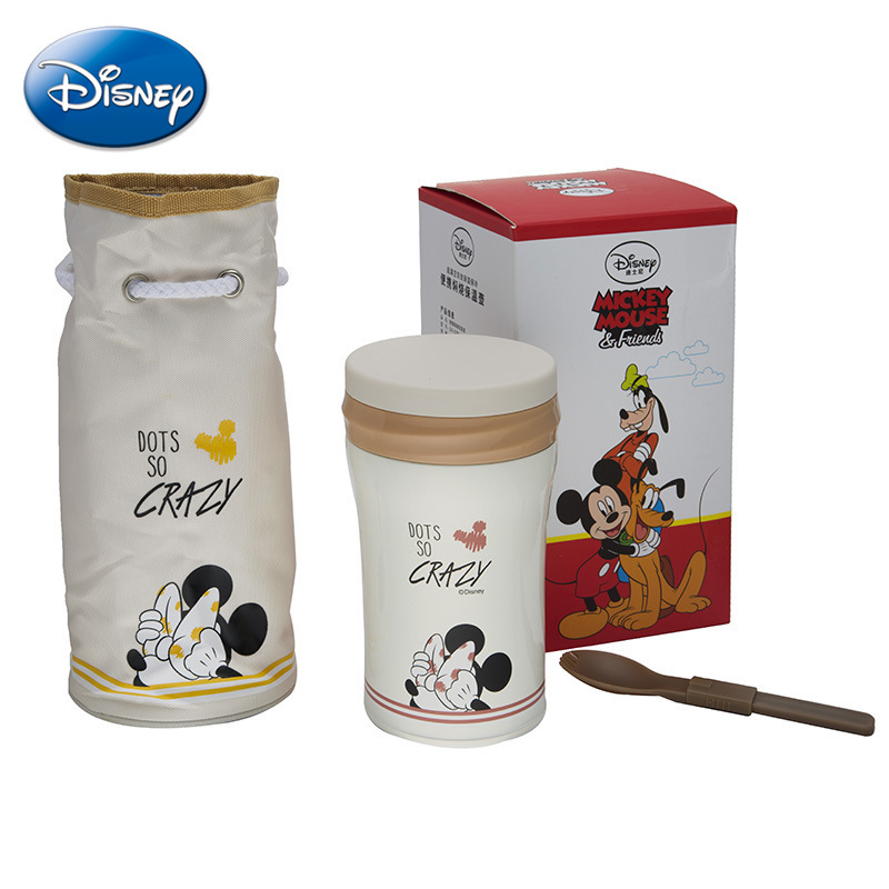 Disney Stainless Steel Cartoon Cup Portable Steamer Pots Child Health Safety Creative Cup GX-5789 creative fashion portable stainless steel vacuum cup