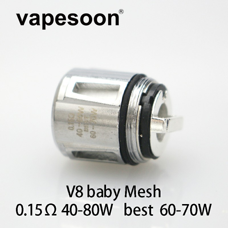 5pcs V8 Baby Mesh Baby-Q4 Baby-T12 Replacement Coil Head Core for SMOK Resa Stick Kit Resa Baby TFV12 Baby PrinceTank Atomizer