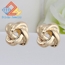 Retro Earrings (1pair / lot) European and American Popular Alloy Irregular Lady