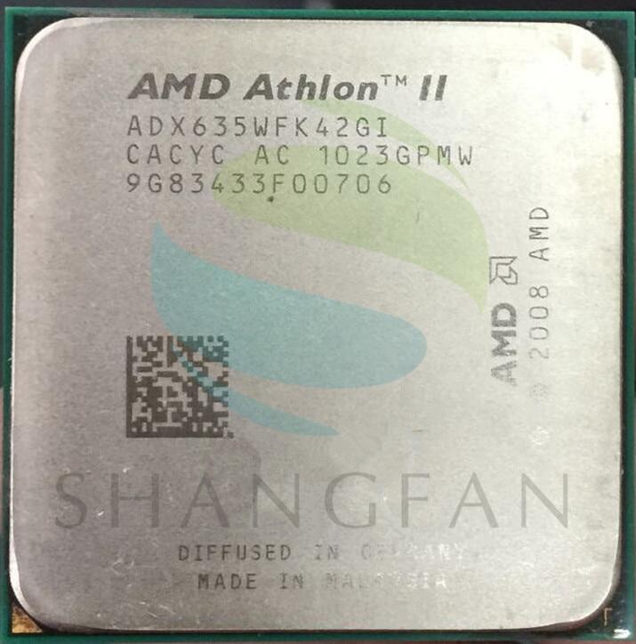 AMD CPU Athlon X4 635 3GHz Quad-Core CPU Processor ADX635WFK42GI 95W Socket AM3 938pin