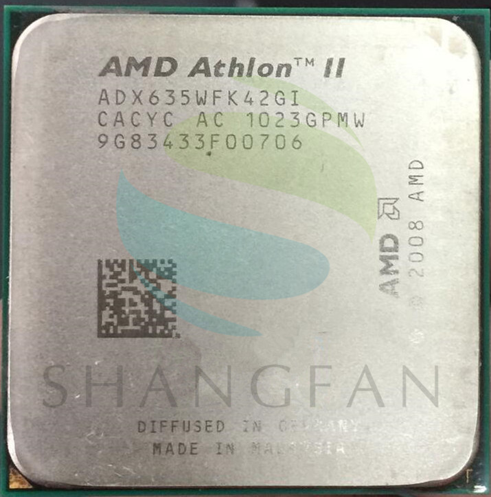 AMD CPU Athlon X4 635 3 GHz Quad-Core CPU Processeur ADX635WFK42GI 95 W Socket AM3 938pin