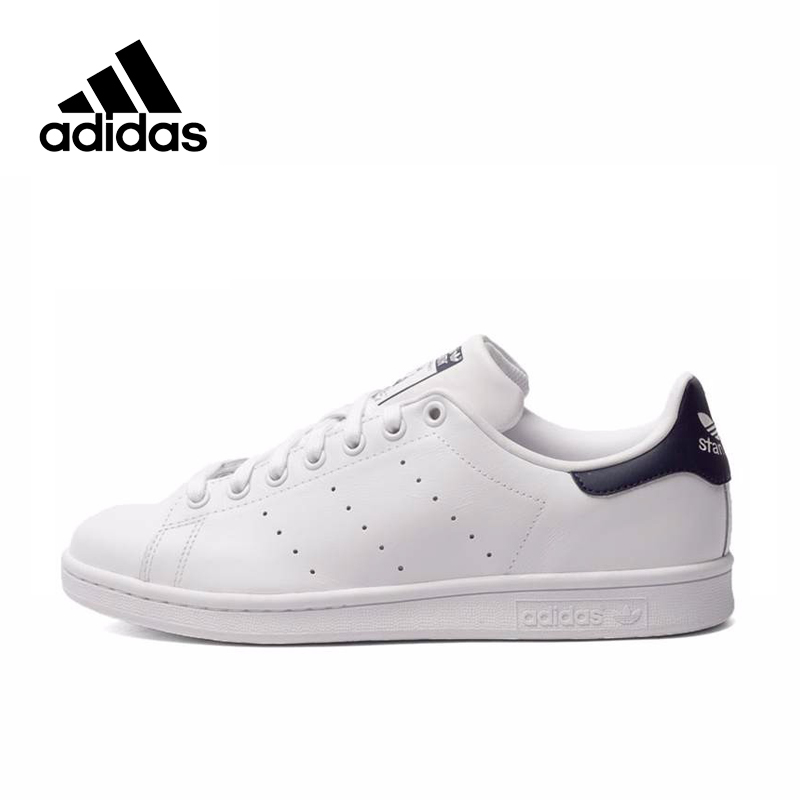 Adidas  Men's Stan Smith Skateboarding Shoes,Authentic Black Logo Sneakers Classique Shoes Platform Breathable UK Size U(China)