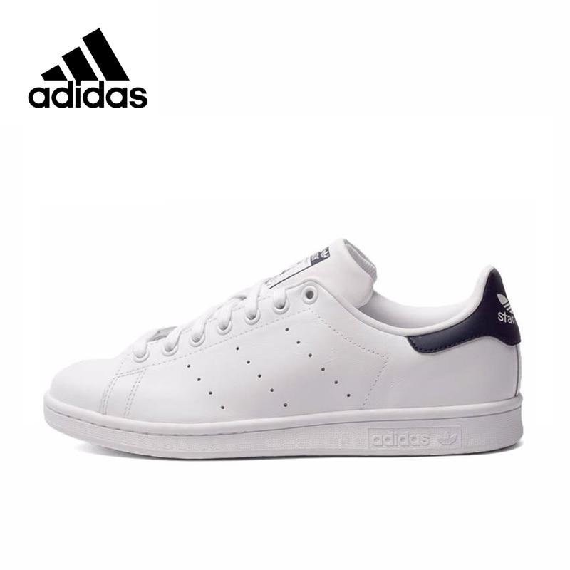 Adidas  Men's Stan Smith Skateboarding Shoes,Authentic Black Logo Sneakers Classique Shoes Platform Breathable UK Size U(China)