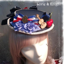 DIY Flower Bow Badge Collage Style Girls Sailor Lolita Cosplay Mini Boater Hat