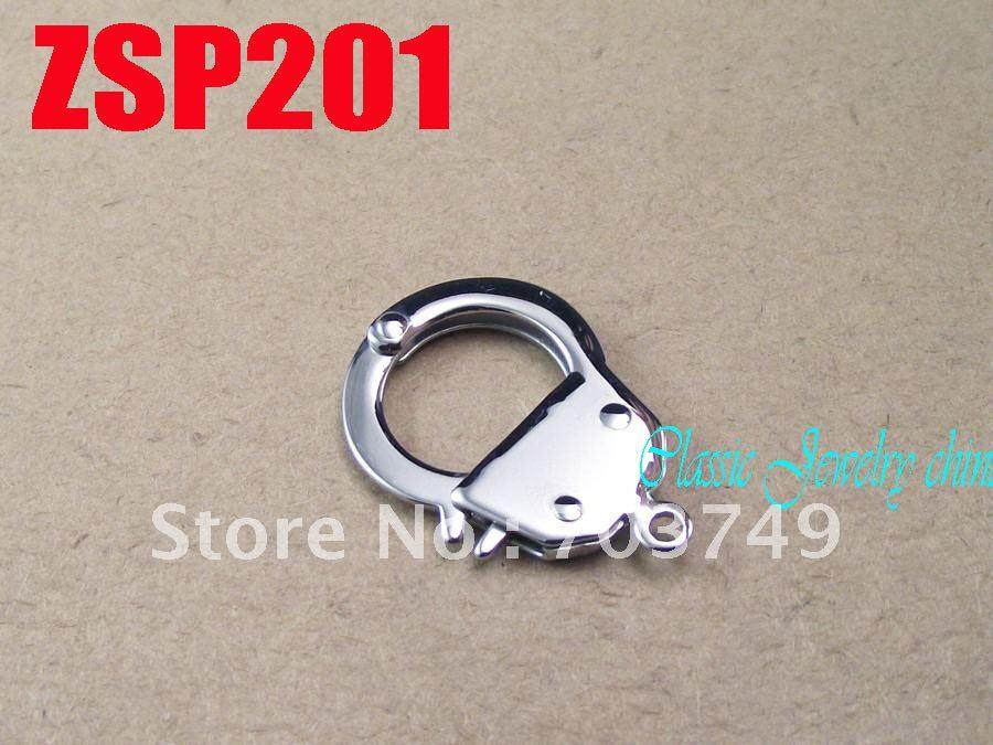 Petites menottes forme acier inoxydable collier pièces bracelet connexion bijoux accessoires ZSP201 - 3