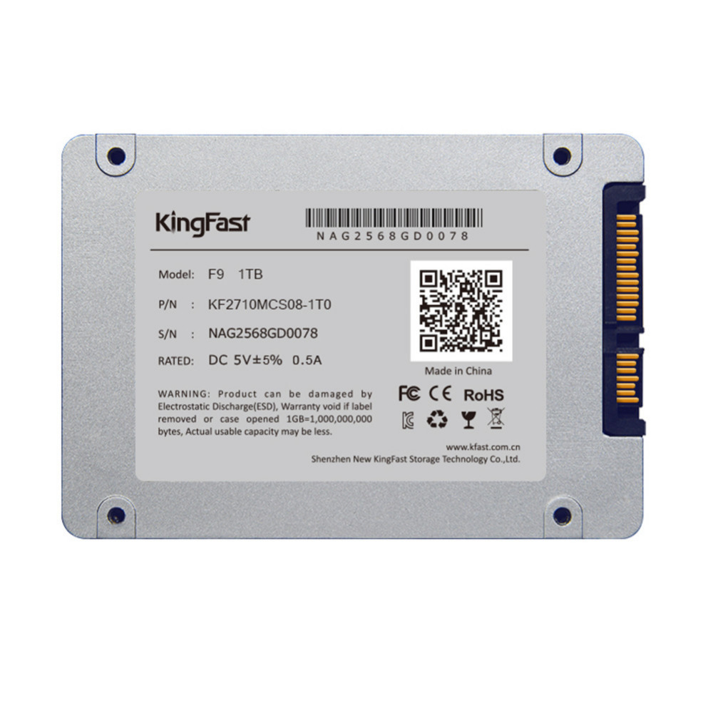 KingFast F9 2.5 Inch Solid State Drive 7mm Internal SSD Hard Disk 256GB 512GB 1TB SATA 3.0 6Gb/s SSD Laptop Hard Drive