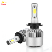 2Pcs LED H7 COB S2 Auto Car Headlight 100W 10000LM High Low Beam Bulb Automobile Lamp