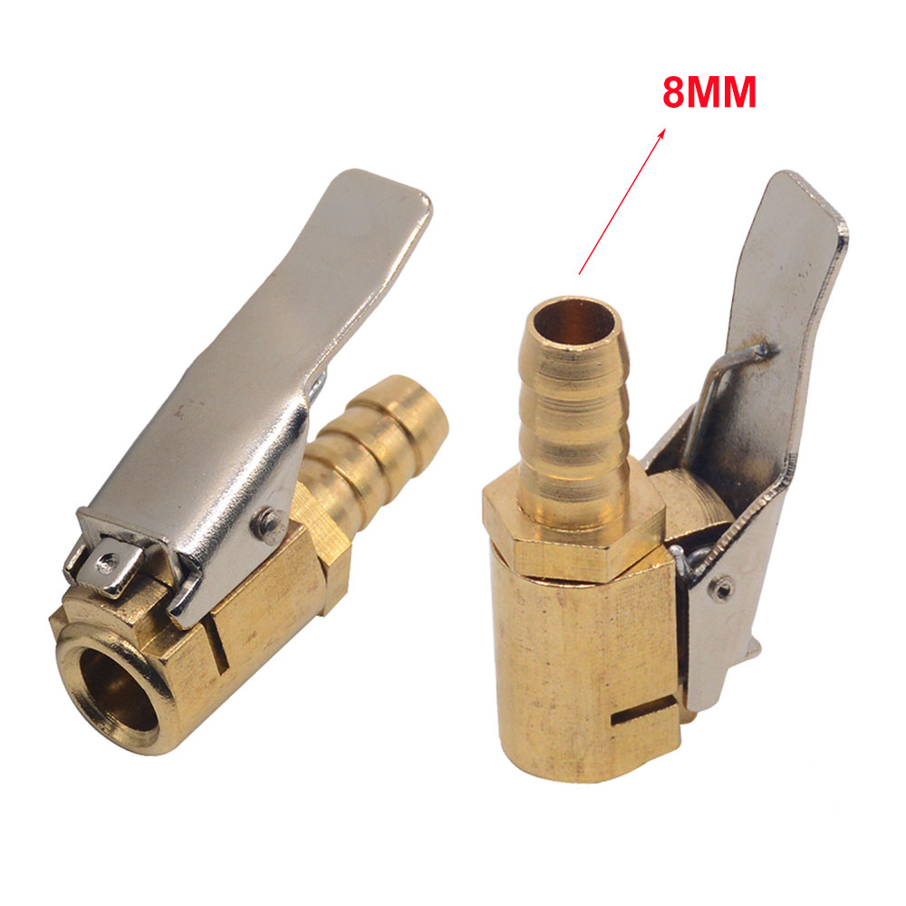 1PC 8mm Auto Air Pump Chuck Clip Car Truck Tyre Tire Inflator Valve Connector Car Open Brass Stem Tire Auto Repair Tool