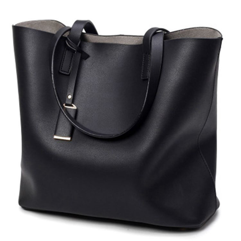 New Fashion Woman Shoulder Bags Brand Luxury Handbags Women Bags Designer High Quality leather Totes Mujer Bolsas Casual Big Bag 2017 new casual women shoulder bags famous brand fashion designer handbag solid genuine leather bag totes bolsos mujer
