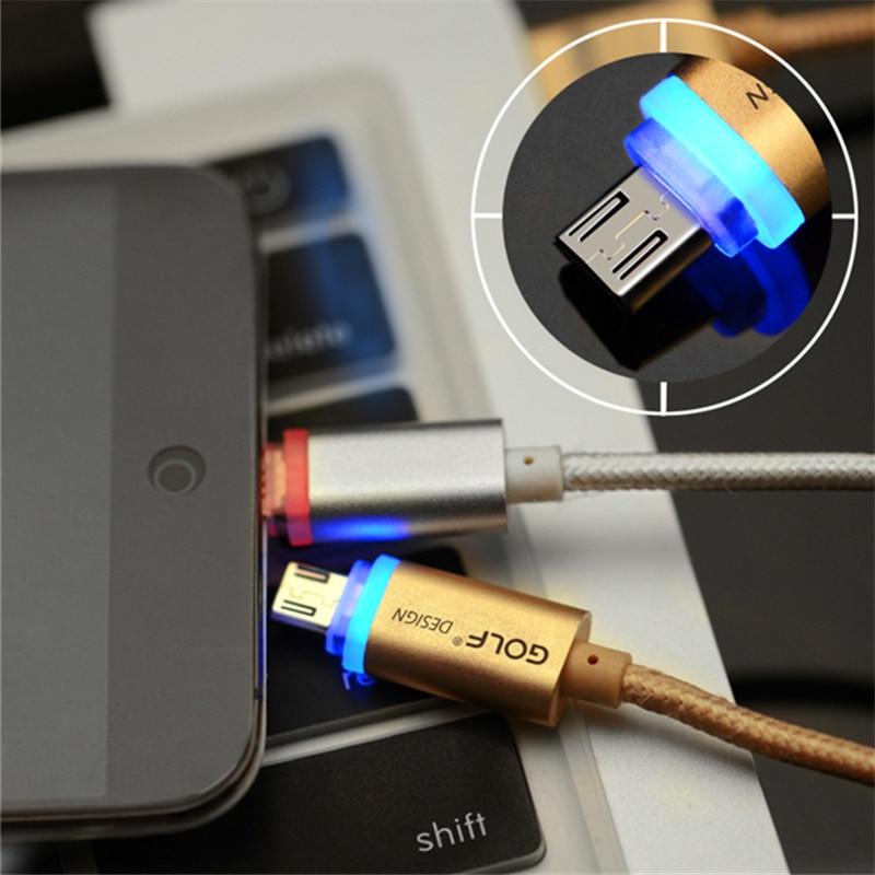 GOLF 1m Καλώδιο φόρτισης Smart LED Micro USB για - Ανταλλακτικά και αξεσουάρ κινητών τηλεφώνων - Φωτογραφία 3