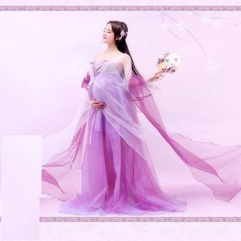 Zi Yun Purple Tang Dynasty Princess Costume Hanfu Pregnancy Mum Thematic Photography Costume Stage Performance Hanfu you zi yin tang dynasty prince and empress costume parent child costume sets mother son stage clothing
