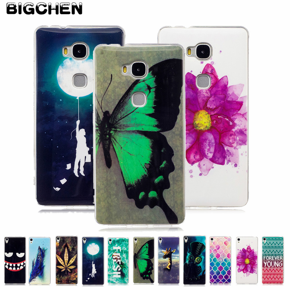 For Huawei Honor 5X Case Fashion Glossy TPU Cover For Huawei Honor 5X 5 X X5 GR5 Case Silicone Soft Protective Phone Back Cover