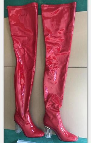 KemeKiss/Сапоги до колена размера плюс 35 48, женские теплые зимние сапоги на меху нового дизайна, модные женские сапоги на высоком каблуке, женска... - 2
