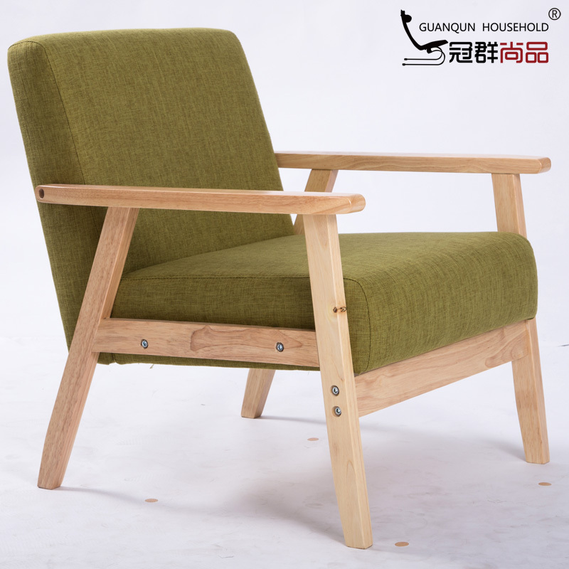 CA Fashion Fabric Sofa Small Apartment Single Solid Wood Bar Chairs Cloth Coffee  Cafe Armchairs In Hotel Sofas From Furniture On Aliexpress.com | Alibaba ...