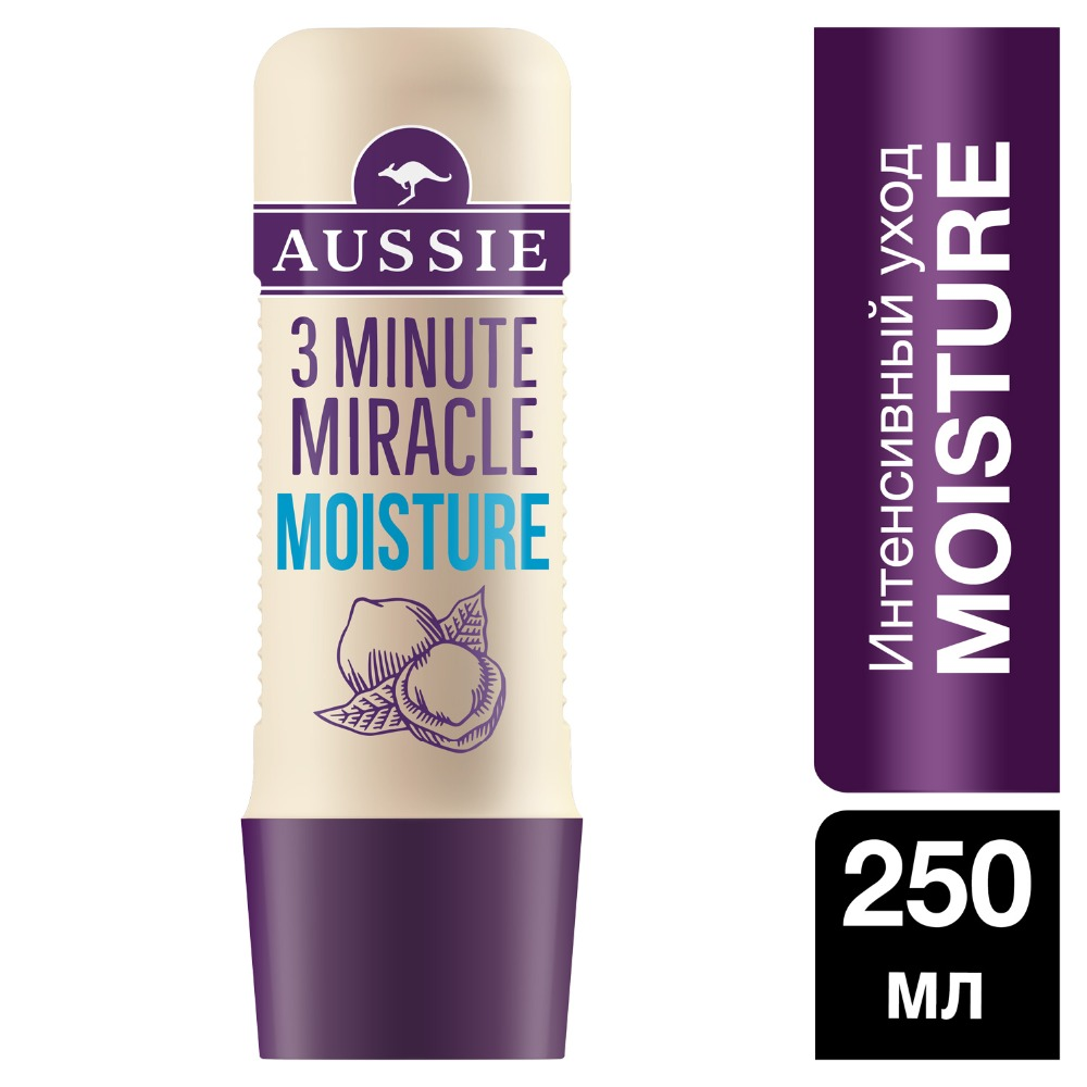 AUSSIE Intensive Care 3 Minute Miracle Moisture 250 ml aussie intensive care 3 minute miracle color for colored hair 250ml