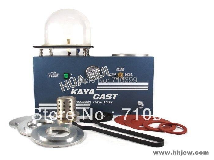 Machine de moulage sous vide de bijoux KAYA Machine d'investissement sous vide et de moulage, combinaison de fonte de cire perdue de bijoux