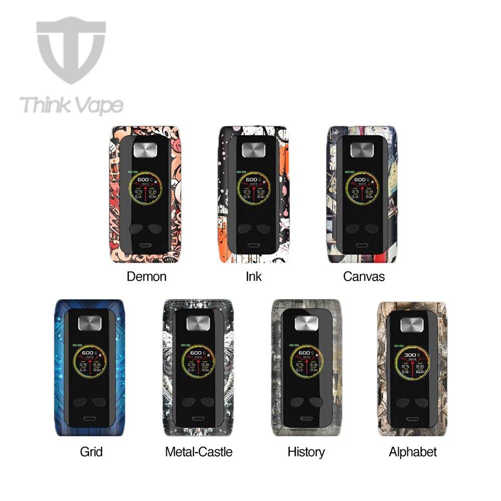 D'origine Pense Vaporisateur Pro 220 w TC Boîte MOD VW/TC Mod 220 w avec 1.3 pouce TFT Couleur écran N ° 18650 batterie E-cig VS Pense Vaporisateur Thor