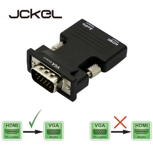 JCKEL 1080P HDMI Female to VGA Male with Audio Aux Jack Adapter Cable HD Video Converter HDMI2VGA for HDCP PS4 TV Monitor Xbox