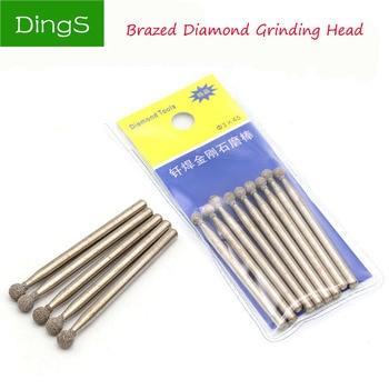 5pcs /Set 3mm Diamond Burs Dremel Rotary Tool Spherical shape Abrasive Grinding Head Dremel Accessories Dremel Diamond Bits приставка dremel 670 26150670ja