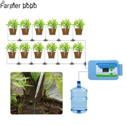Irrigação por gotejamento led bomba automática conjunto de rega planta temporizador jardim temporizador água casa escritório irrigação água