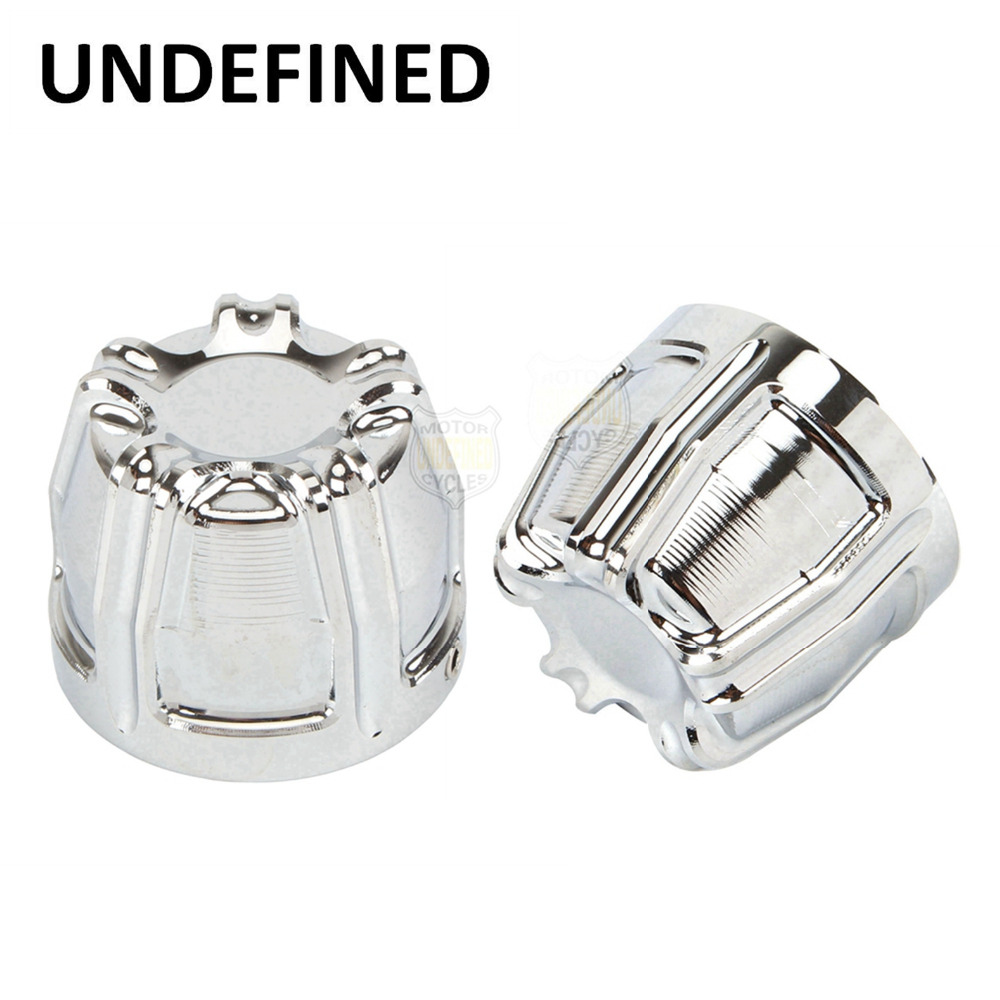 Motorcycle Accessories Chrome CNC 10-Gauge Front Axle Nut Cover Bolt Kit For Harley Spor ...