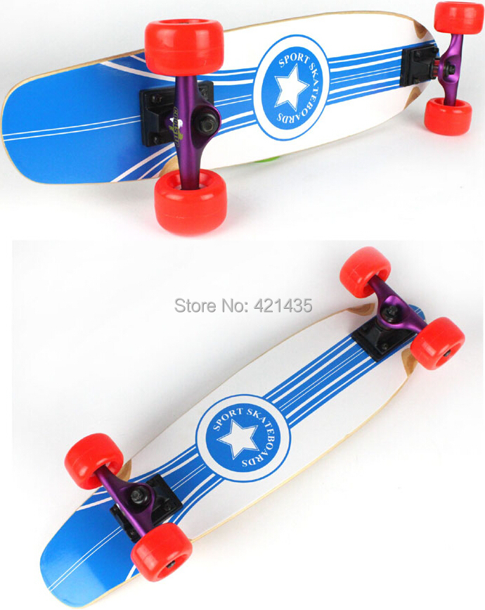 Fashional maple Full board double warped four skateboard assembled sand bag Highway brush street skateboarding Freehipping 6 5 adult electric scooter hoverboard skateboard overboard smart balance skateboard balance board giroskuter or oxboard