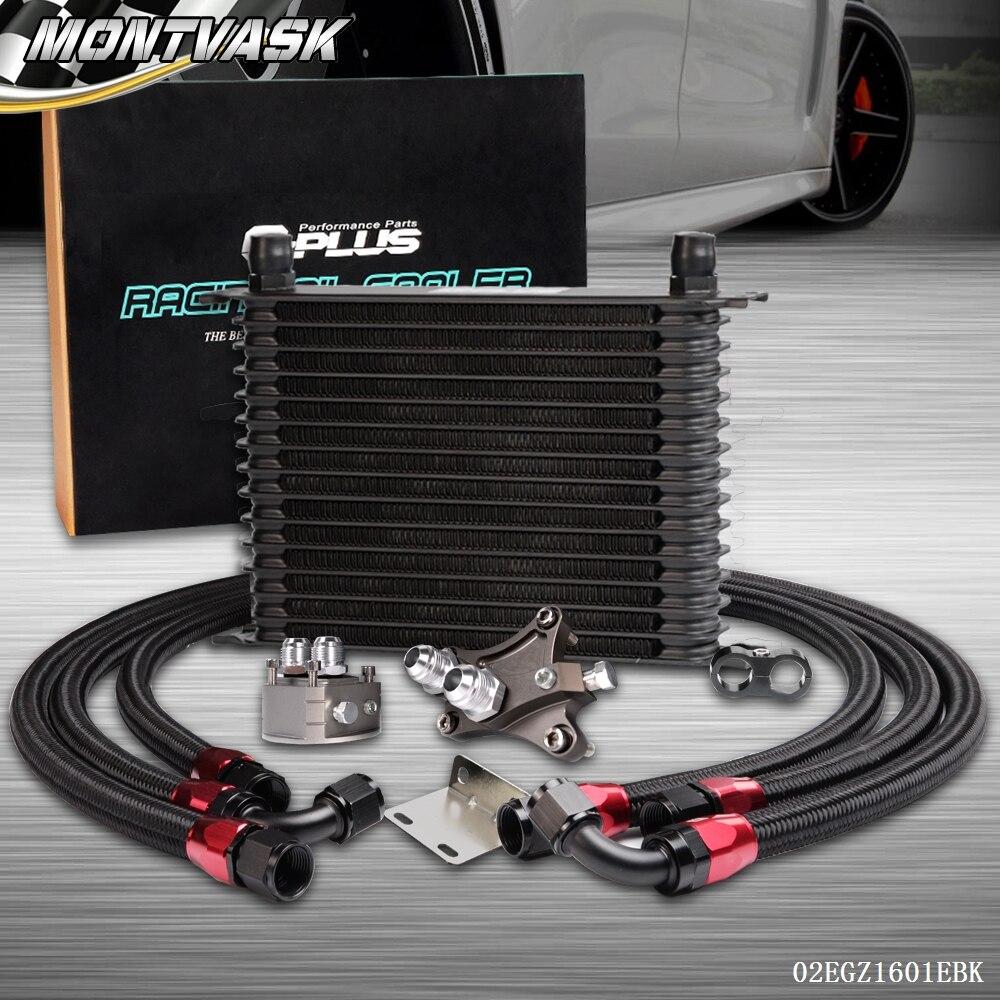 15 Row Oil Cooler Kit For Nissan Silvia S13 S14 180SX 200SX 240SX SR20DET Turbo turbo rebuild kit nis an sr20det w g rr tt t25 411 03076 001