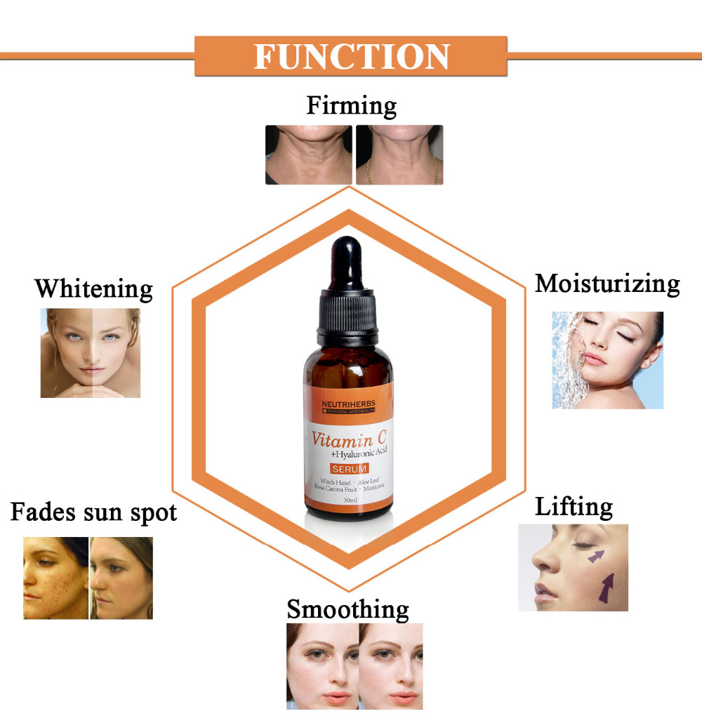Neutriherbs Face Vitamin C Serum | Hyaluronic Acid | Retinol, Collagen Serum Kit Skin Whitening Moisturizer Anti Wrinkle Anti Aging
