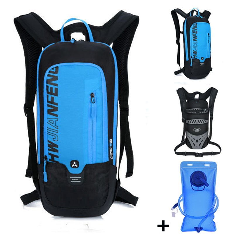 Outdoor Running Cycling Backpack 2L Bladder Water Bag Sports Camping Hiking Hydration Backpack Riding Camelback Bag + Water bag