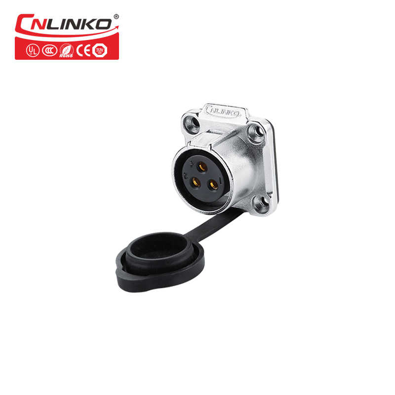 CNLINKO LP20 series waterproof connector 20A 500V 2pin m20 male and female LED outdoor power connector IP65// IP67 Fast locking connect 2 pin