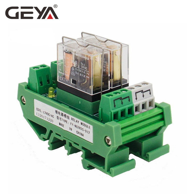 GEYA NG2R 2 Channel Relay Module 12V 24V 1SPDT Relay 10A Plug in Type Omron Relay