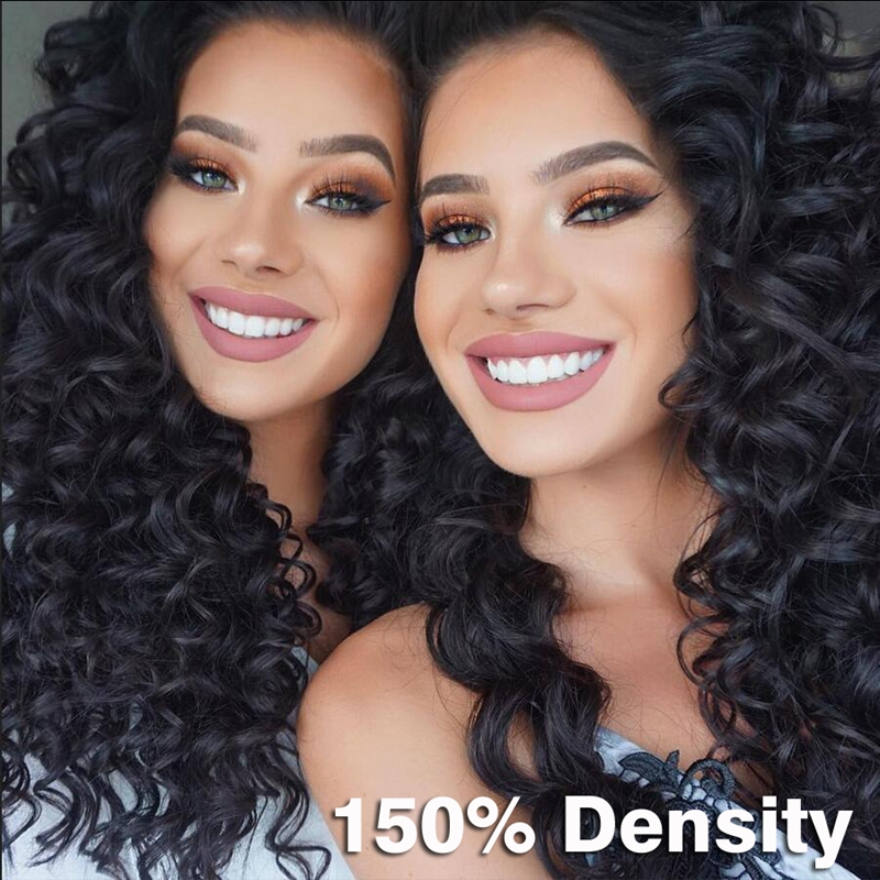 Unprocessed Virgin Indian Big Jerry Curly Wig With Baby Hair Natural Hairline Glueless Full Lace Human Hair Wigs For Black Women