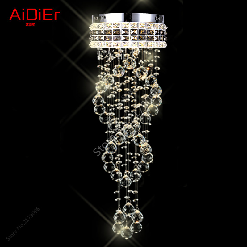 Crystal Light LED lamps aisle entrance hall corridor of small crystal lamp round home garden Chandeliers LED energy-saving lamps light the mediterranean restaurant in front of the hotel cafe bar small aisle entrance hall creative pendant light df57