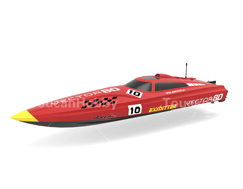 Volantex Vector 80 PNP RC Racing Boat Model W/ Motor Servo 50A ESC W/O Battery h625 pnp spike fiber glass electric racing speed boat deep vee rc boat w 3350kv brushless motor 90a esc servo green