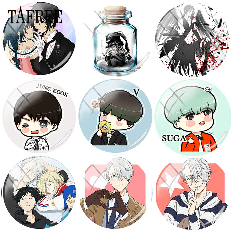 Forceful Tafree Bts Boys Got7 Black Butler Yuri On Ice Photos 25mm Diy Glass Cabochon Dome Demo Flat Back Making Findings Accessories Beads & Jewelry Making