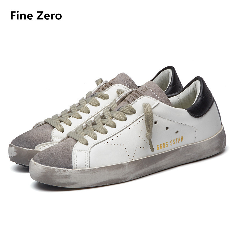 Fashion Famous Brand Luxury Shoes For Mens trainers PU Leather Men Golden Dirty Homme Low Breathable Shoes tenis feminino 2016 famous brand shoes golden goose oro women men basse genuine leather gz ggdb casual shoes stella noires superestrella ganso