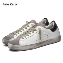 Fashion Famous Brand Luxury Shoes For Mens trainers PU Leather Men Golden Dirty Homme Low Breathable Shoes tenis feminino