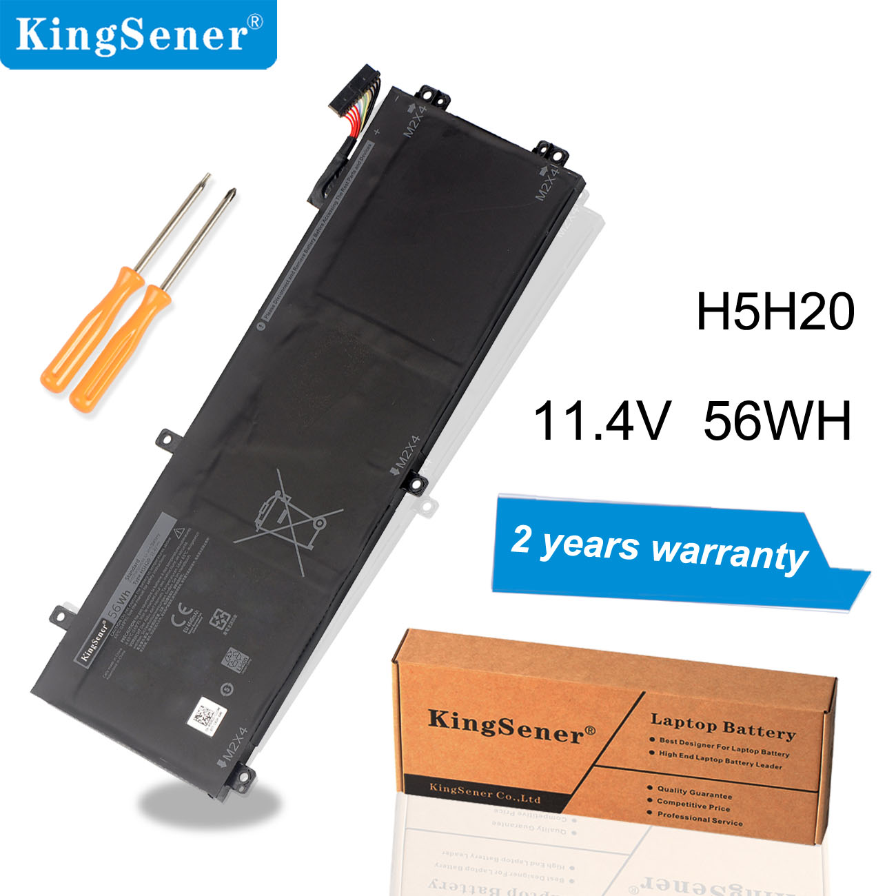Kingsener H5H20 Laptop Battery For DELL XPS 15 9560 9570 15-9560-D1845 Precision M5520 5530 62MJV M7R96 05041C 5D91C 11.4V 56Wh