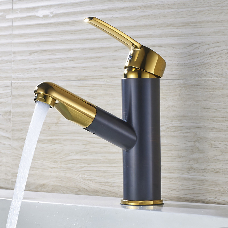 MTTUZK Pull Out Gold/Black/ORB Kitchen Faucet Copper Sink Nickel Brushed  Kitchen Mixer Around Faucets/Bathroom Basin Faucet  In Kitchen Faucets From  Home ...